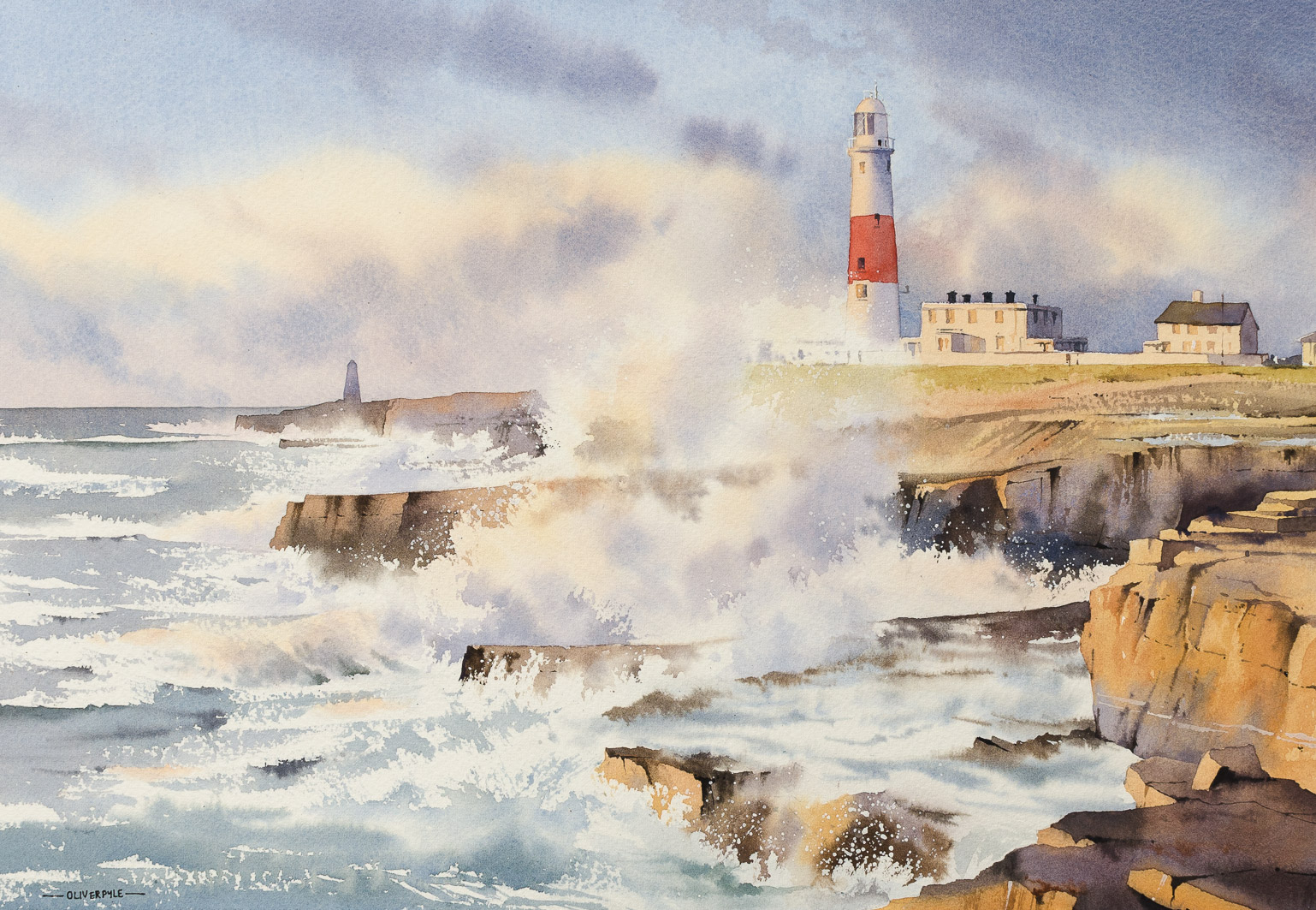 Sea Spray at Portland Bill