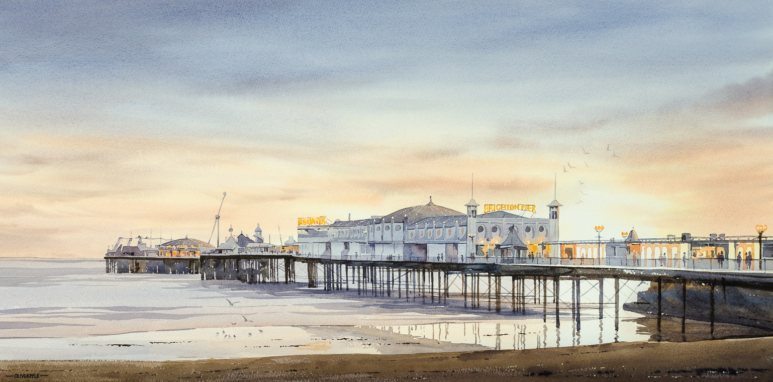 Sunset Over Palace Pier