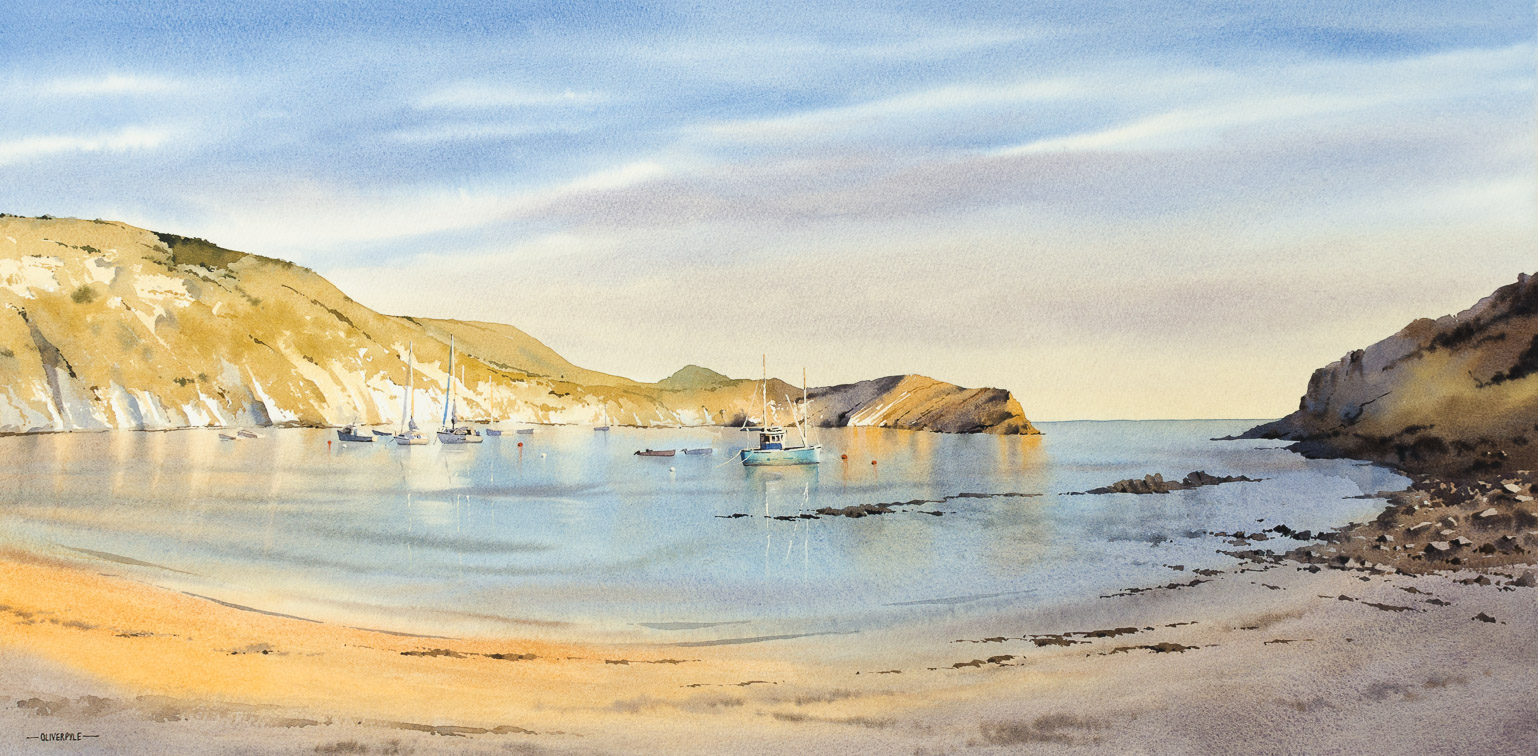 Evening Glow at Lulworth Cove