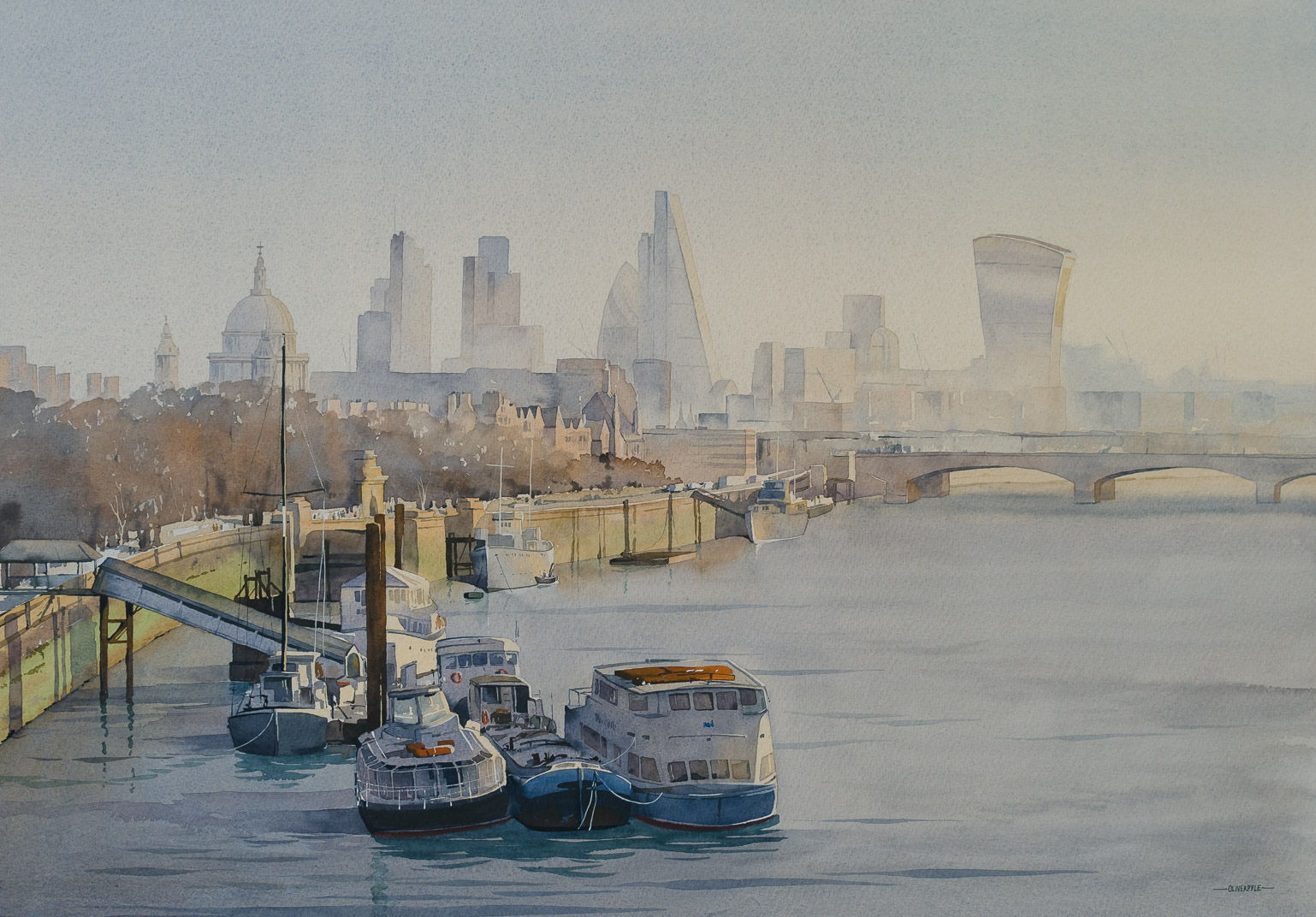 Downstream, from Waterloo Bridge