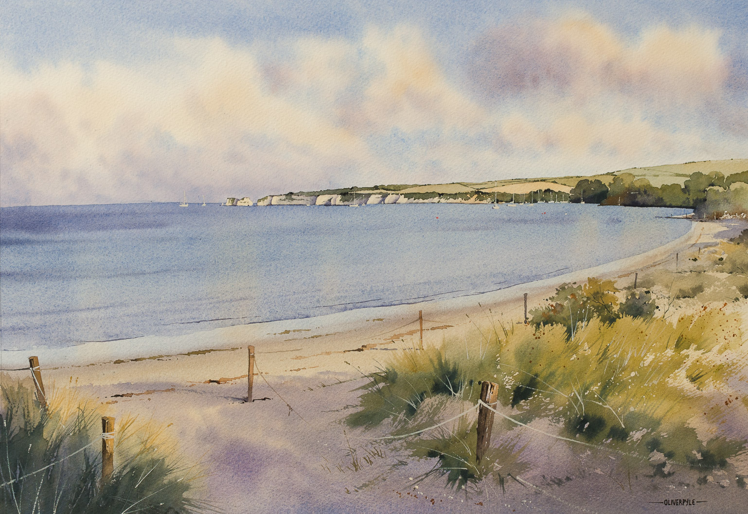 High Tide at Knoll Beach, Studland