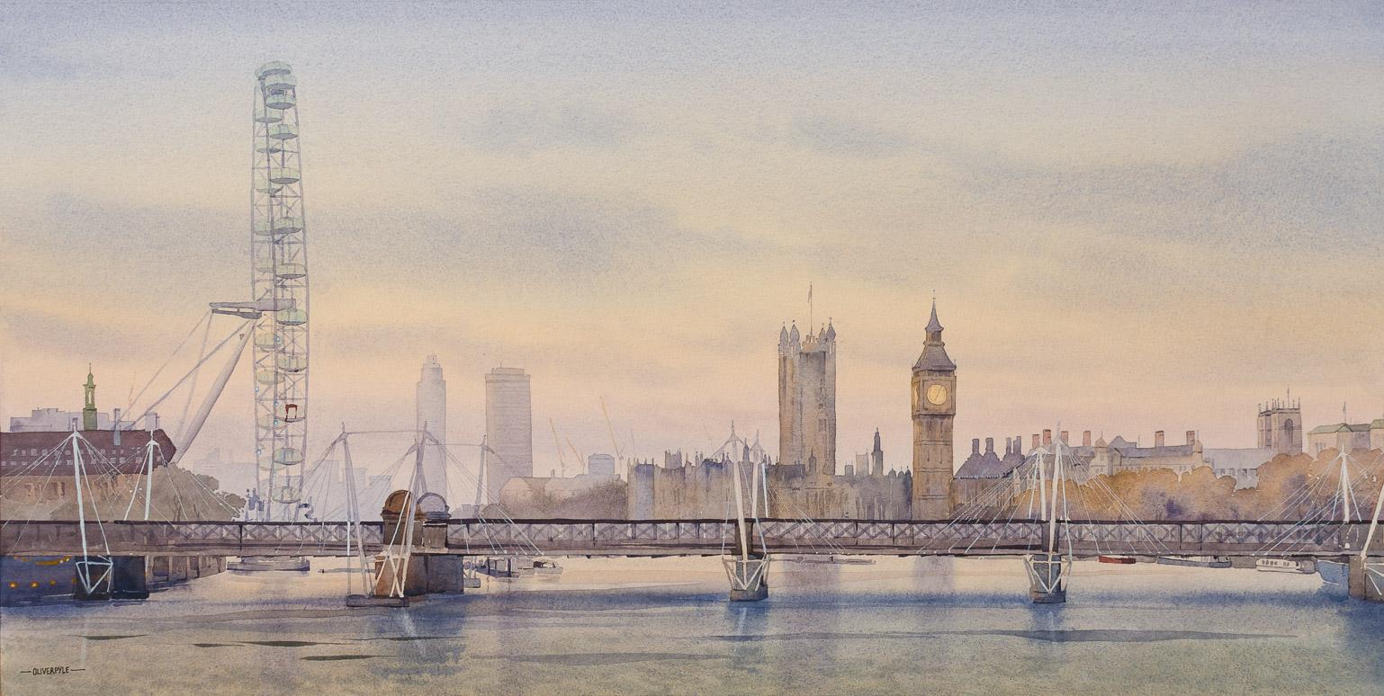 Upstream, from Waterloo Bridge