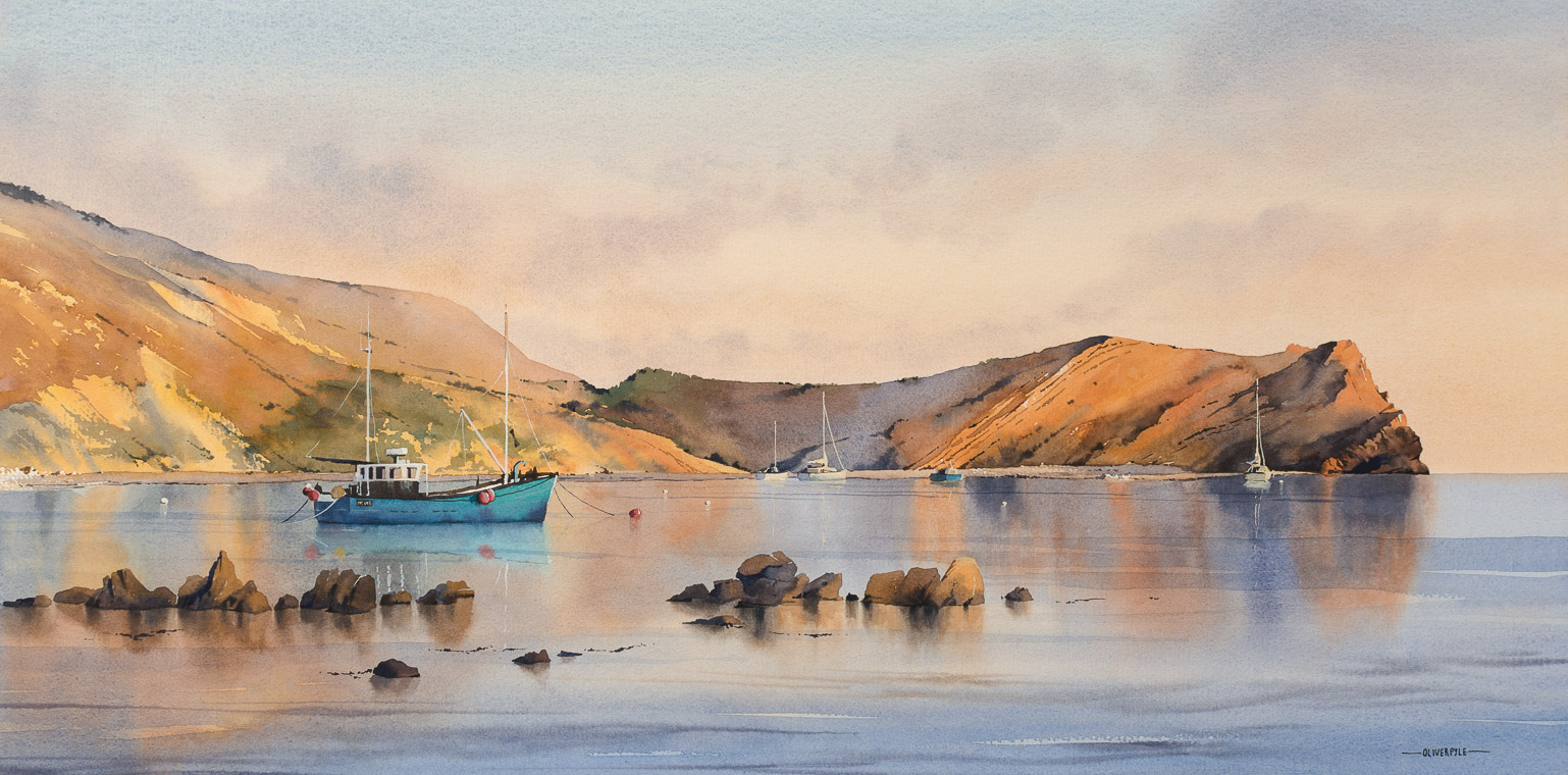 Evening Tranquility at Lulworth Cove