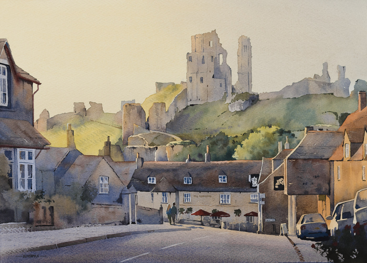 Evening Approaches, Corfe Castle