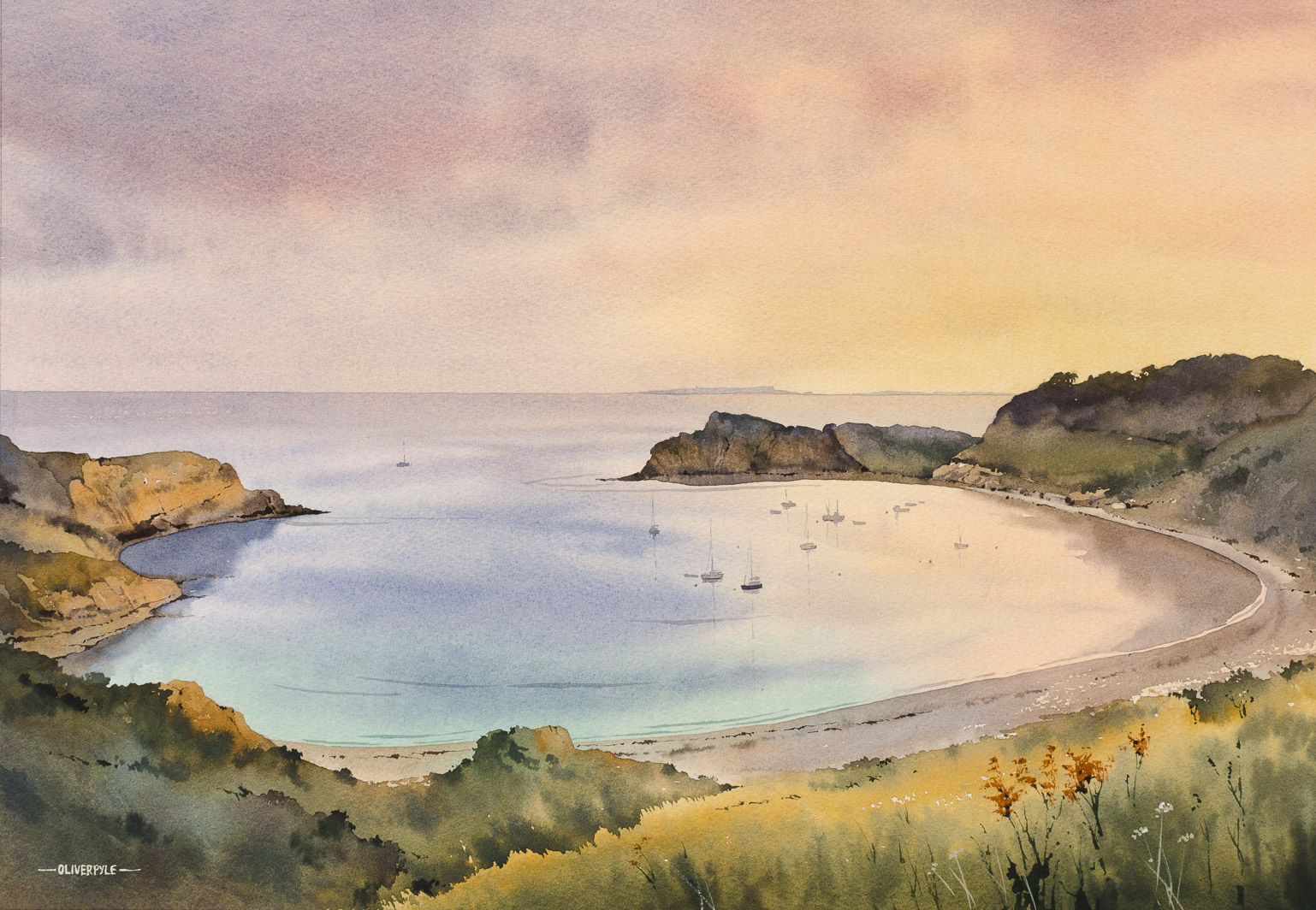 Dusk, Lulworth Cove