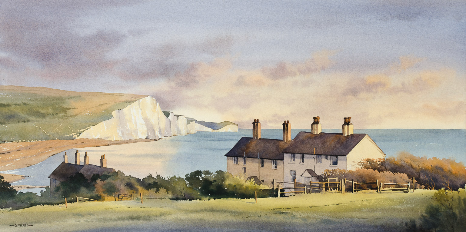 Cliffs and Cottages, Cuckmere Haven