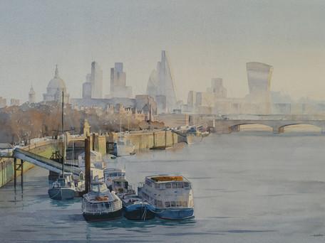 Downstream From Waterloo Bridge