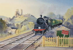 Standard 4MT Eases into Corfe Castle