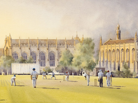 Evening Cricket at Cheltenham College