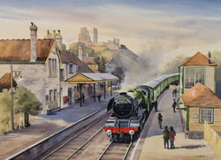 Flying Scotsman at Corfe Castle