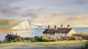 Cliffs and Cottages at Cuckmere Haven
