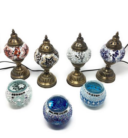 Orientalische mosaik tischlampe blau soulsisters for Nachttischlampe orientalisch