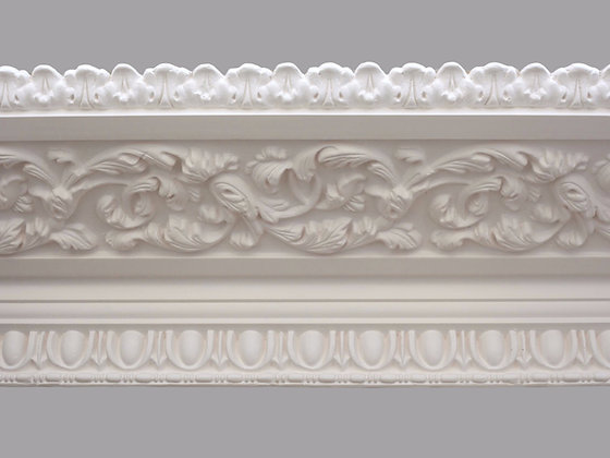 CL-V09 Victorian Plaster Cornice. Ceiling Projection: 355mm. Wall Height: 115mm.