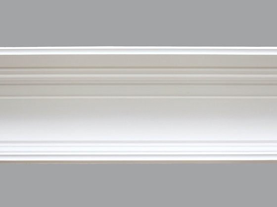 CL-C02 Contemporary Plaster Cornice.  Projection: 195mm.  Depth: 130mm.