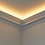 Thumbnail: CL-LG01 Plaster Lighting Cornice. Ceiling Projection: 93mm. Wall Height:110mm
