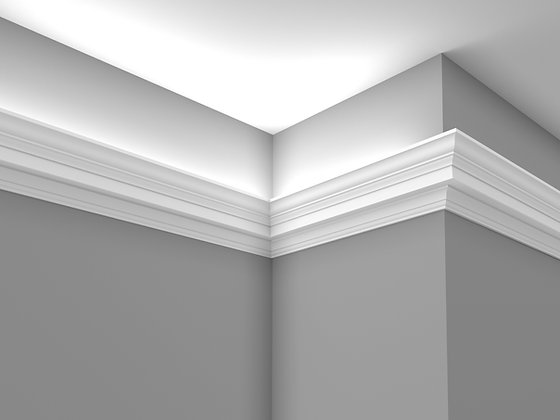 CL-LG01 Plaster Lighting Cornice. Ceiling Projection: 93mm. Wall Height:110mm