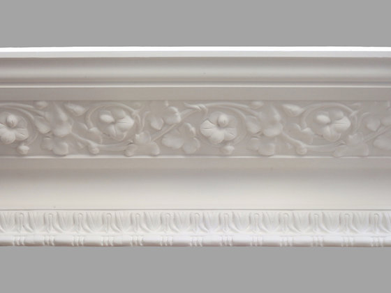CL-V11 Victorian Plaster Cornice. Ceiling Projection: 330mm. Wall Height: 145mm.