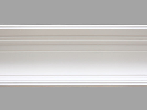 CL-C02 Contemporary Plaster Cornice. Ceiling Pro: 195mm. Wall Height: 130mm.