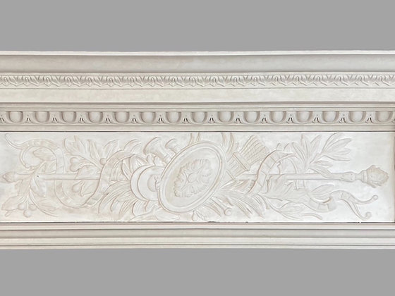 CL-CC19 Classic Plaster Cornice. Ceiling Projection: 235mm. Wall Height 500mm