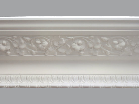 CL-V11 Victorian Plaster Cornice.  Projection: 330mm.  Depth: 145mm.