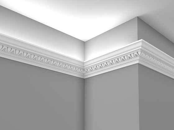 CL-LCC07 Plaster Lighting Cornice. Ceiling Projection: 95mm. Wall Height: 100mm