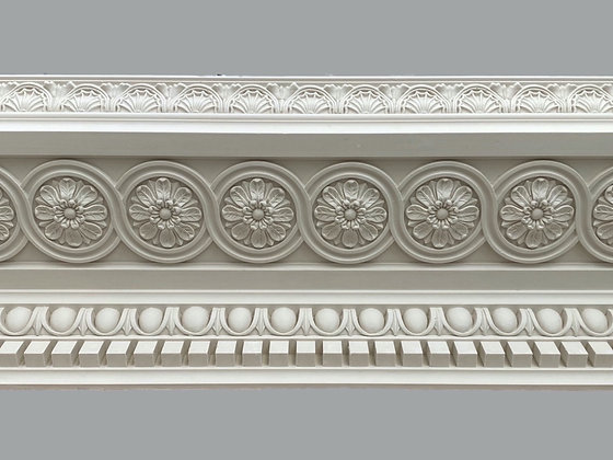 CL-RCC18 Regency/Classic Plaster Cornice.  Projection: 330mm.  Height: 195mm.