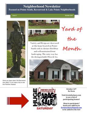 October 2017 Newsletter, Zachary LA