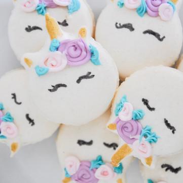 magical unicorn macarons