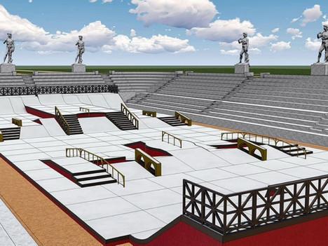 Skatepark Design: 2021 Street Skateboarding Rome World Championship Course!