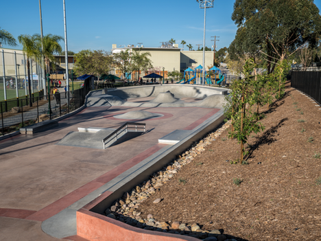 """The opening of """"Park De La Cruz"""" the 19,000 square foot skate park located in San Diego County is of"""