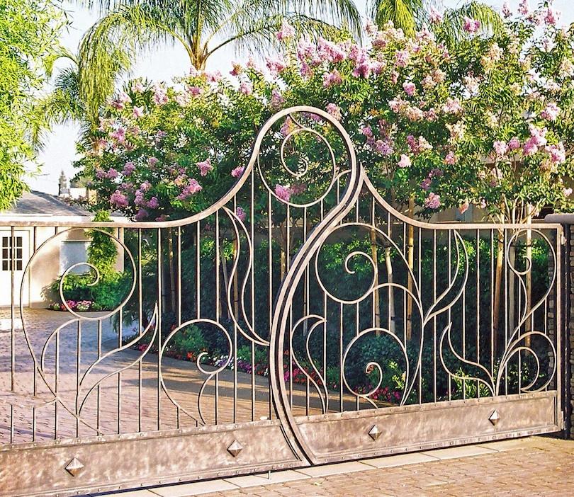 Whimsical front entrance gate