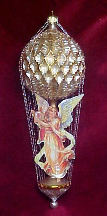#5511-003 - Wire Wrapped Angel Ballon, Matte Gold