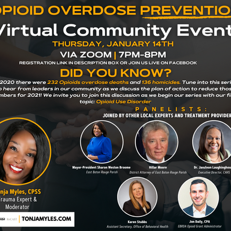 Working together with some community leaders to save lives from opioid overdose.