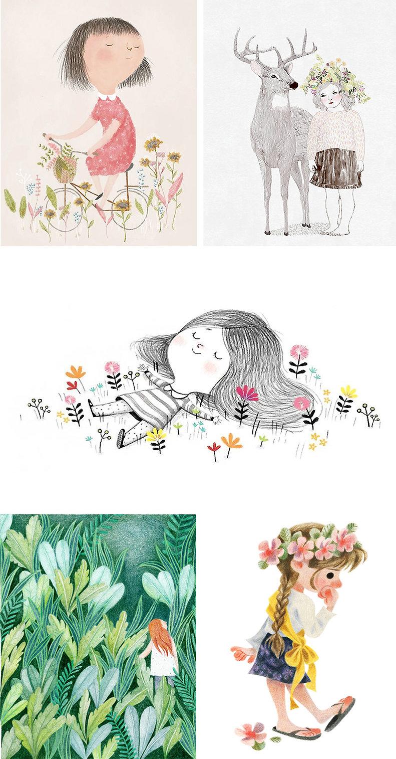 그림이좋은사람들 느낌있는 색연필 일러스트