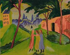 Augst Macke Landschaft mit drei Mädchen Malsalon Cham