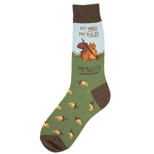 Mens Socks - My Yard, My Rules, My Nuts!