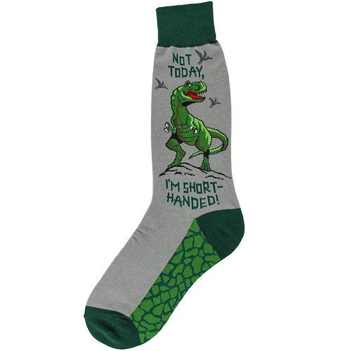 """Mens Socks - T-Rex """"I'm Short Handed!"""""""
