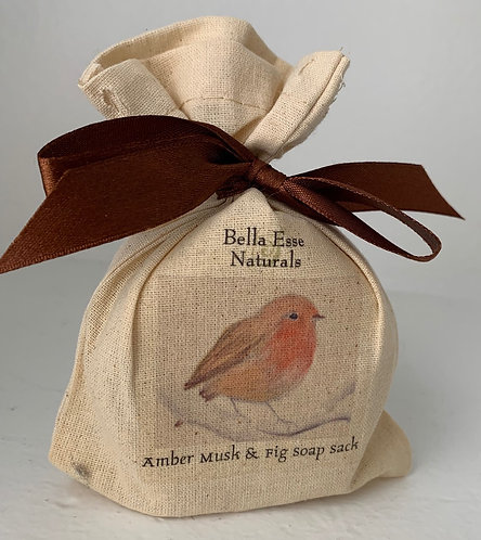 Robin Soap Sack - Amber Musk and Fig