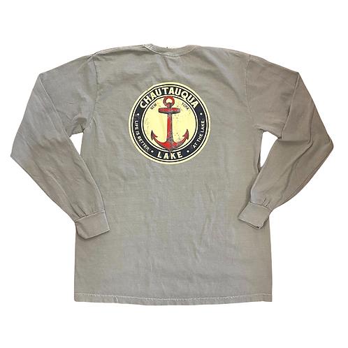 Chautauqua Lake Long Sleeve T-Shirt: Big Red Anchor