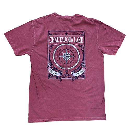 Chautauqua Lake Short Sleeve T-Shirt: Compass Rose