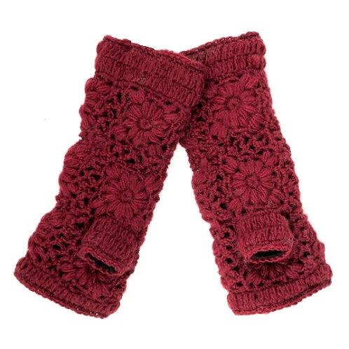 Fingerless Gloves in Red