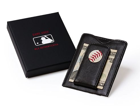 Pittsburgh Pirates Game Used Baseball Money Clip Wallet