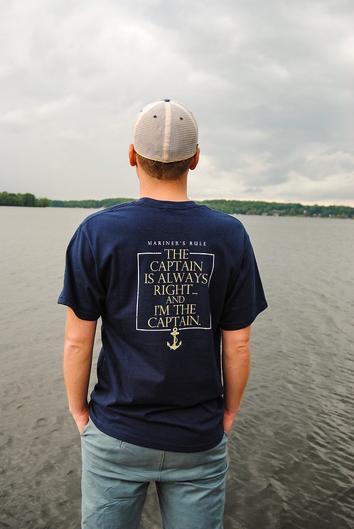 Chautauqua Lake Short Sleeve T-Shirt: The Captain is Always Right