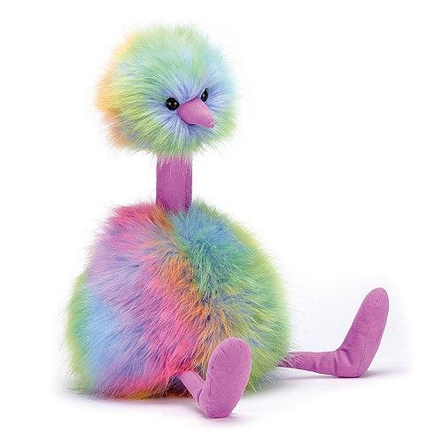 """Jellycat Rainbow Pom Pom Ostrich- 13"""""""