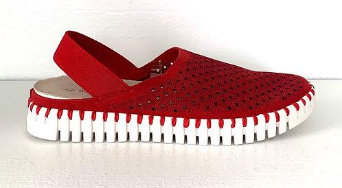Ilse Jacobsen Tulip Slingback Shoe in Red