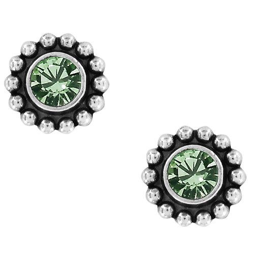 Brighton Twinkle Mini Post Earrings in Peridot