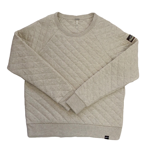 Chautauqua Lake Quilted Crew in Heathered Oatmeal