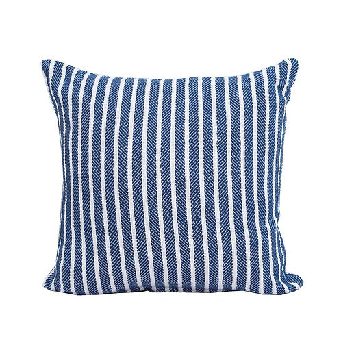 "Navy Striped Pillow - 20"" x 20"""