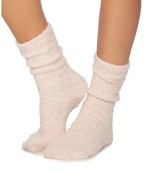 Barefoot Dreams Socks in Dusty Rose/White
