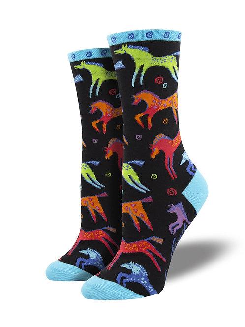 Womens Socks - Dancing Horses